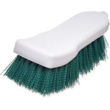 "Carlisle 4052109 Sparta® 6"" Green Polyester Hand Scrub Brush"