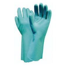 "Wells Lamont Y8215L Large Green 13"" Nitrile Gloves - Pair"