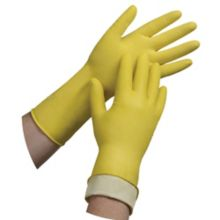 Tradex L6500-XL Ambitex Pair of Yellow Flock Lined Latex Gloves