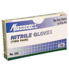 Afassco® 346 Latex First Aid Gloves - 4 / BX