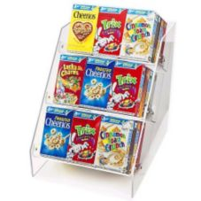 Cal-Mil® 370 Clear 3-Level Angled Cereal Box Display Rack