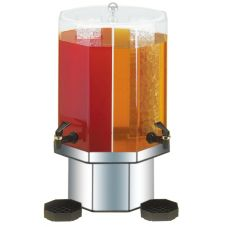 Cal-Mil® 5 Gl. Octagonal Hawaiian Dual Beverage Dispenser