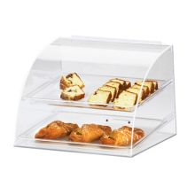 Cal-Mil 289 Clear Sloped Front 2-Tray Euro Display Case with Rear Door