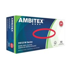 Tradex Ambitex® Small Powdered All Purpose Synthetic Vinyl Gloves