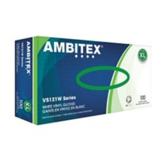 Tradex V5121W-XL Ambitex® XL Powdered Syn. Vinyl Gloves - 100 / BX
