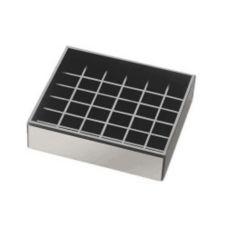 "Cal-Mil 392-010 Silver 4"" x 4"" Spigot Drip Tray"
