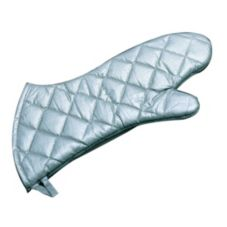 "Ritz® OMS26SL Silver Non-Stick 16"" Elbow-Length Oven Mitt - Pair"