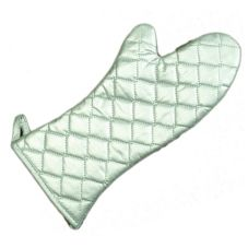 "Ritz® OMS16SL Silver Non-Stick 16"" Elbow-Length Oven Mitt"