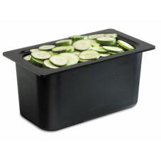 San Jamar® CI7003BK Chill-It® Black 1/3-Size Food Pan