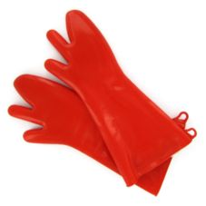 Tucker Safety 97189 Red Silicone Glove With Removable Liner - Pair