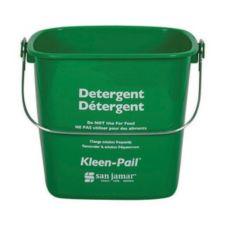 San Jamar® KP196GN Green 6-Quart Kleen-Pail®