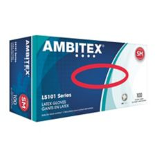Tradex L5101-SM Ambitex® Small Powdered Latex Gloves - 100 / BX
