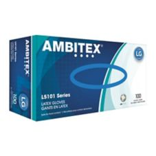 Tradex L5101-LG Ambitex® Large Powdered Latex Gloves - 100 / BX