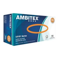 Tradex L5101-MD Ambitex® Medium Powdered Latex Gloves - 100 / BX