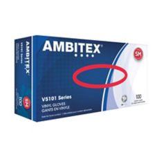Tradex V5101-SM Ambitex Small Powdered Vinyl Gloves - 100 / BX