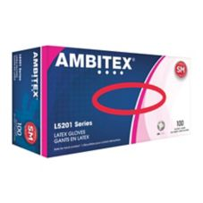 Tradex L5201-SM Ambitex Small Powder-Free Latex Gloves - 100 / BX