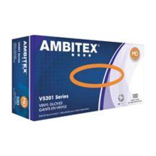 Tradex V5201-MD Ambitex Medium Powder-Free Vinyl Gloves - 10 / CS