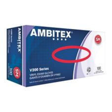 Tradex V200-SM Ambitex Small Powder-Free Vinyl Exam Gloves - 10 / CS
