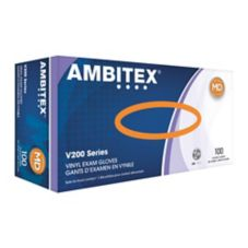 Tradex V200-MD Ambitex Medium Powder-Free Vinyl Exam Gloves - 10 / CS