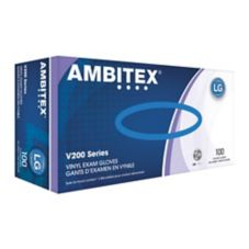 Tradex Ambitex® Large Powder-Free Vinyl Exam Gloves