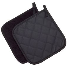"Ritz PT8BKBK-BX Black 8"" x 8"" Flame-Resistant Pyrotex® Pot Holder"