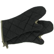 "Arden Benhar duraSERV® Black Elbow-Length 17"" Oven Mitt"