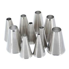 Ateco 810 Plain 10-Piece Decorating Pastry Tube Set