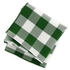 "Green & White Checked Napkin, 20"" x 20"""