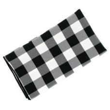 "Tablecloth Co. 20X20 CHECK Black And White 20"" Checked Napkin - Dozen"