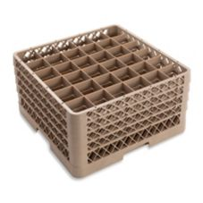 Traex® TR7CCCC Beige 36 Compartment Glass Rack with 4 Extenders