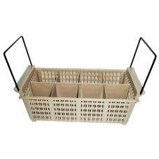 Vollrath 1372 Traex® Beige Flatware Basket with Handles