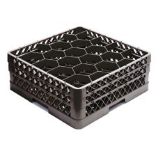 Vollrath TR11GG-06 Traex Black 20 Compartment Glass Rack / 2 Extenders