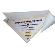 "Ateco 450 15"" Triangular Parchment Papers - 100 / PK"