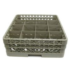 Vollrath TR4DD Traex® 16 Compartment 2 Extender Beige Cup Rack
