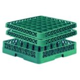 Traex® TR7CC-19 Green 36 Compartment Glass Rack with 2 Extenders
