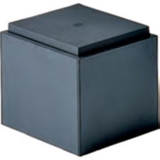 "FMS Floral Display Cube, Black, 12"" x 12"" x 11"""