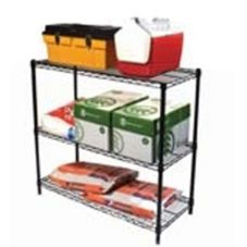 Focus Foodservice Black Epoxy Coated 5-Shelf Shelving Kit