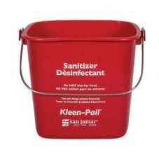 San Jamar® KP196RD Red 6-Quart Kleen-Pail®