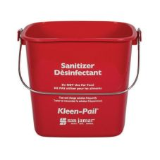 San Jamar® Red 8-Quart Kleen-Pail®