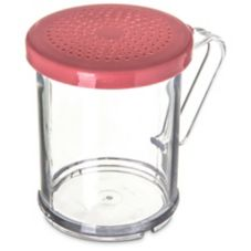 Carlisle® 425055 9 Oz. Shaker / Dredge with Rose Lid