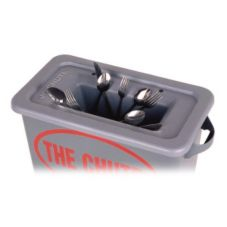 Golden West The Chute® Gray Flatware Trap For 23 Gal. Containers