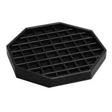 "Action Industries 303A 5"" Black Drip Tray"