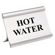 Action Industries 265-HOTWATER 3.5 x 2 HOT WATER Coffee Break Sign