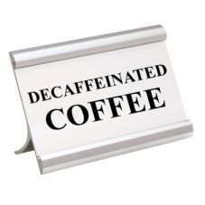 Matte Silver DECAF 3.5 x 2 Coffee Break Metal Sign