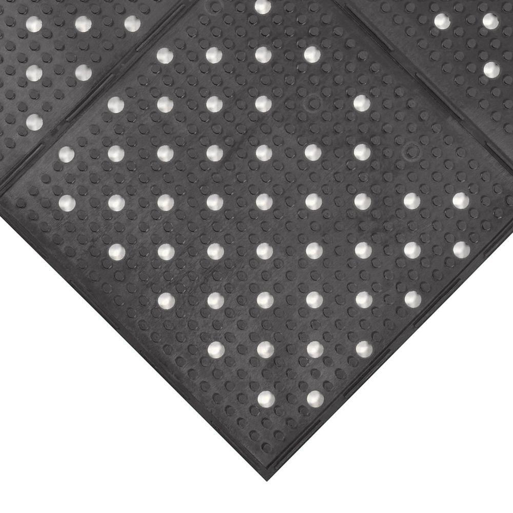 Notrax 410-940 Multi-Mat II 3' x 2' Black Floor Ma