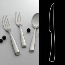 "Steelite 5315S059 Zen S/S H.S.H. 9-1/4"" Steak Knife - Dozen"