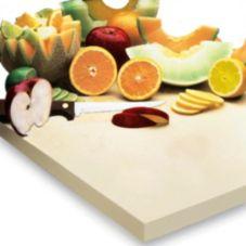 "Apex™ 157-651 Beige Sani-Tuff® 12 x 18 x 3/4"" Cutting Board"