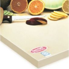 "NoTrax® 148-155 Buff 6"" x 8"" x 1/2"" Rubber Cutting Board"