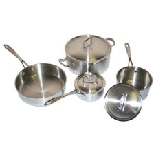 Adcraft® Stainless Steel Deluxe 7 Piece Cookware Set