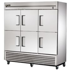 True® T-72-6 T-Series 72 Cu Ft 6-Half Door Reach-In Refrigerator